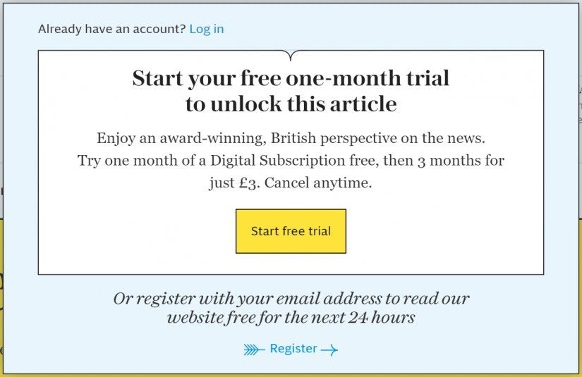 The Telegraph Paywall