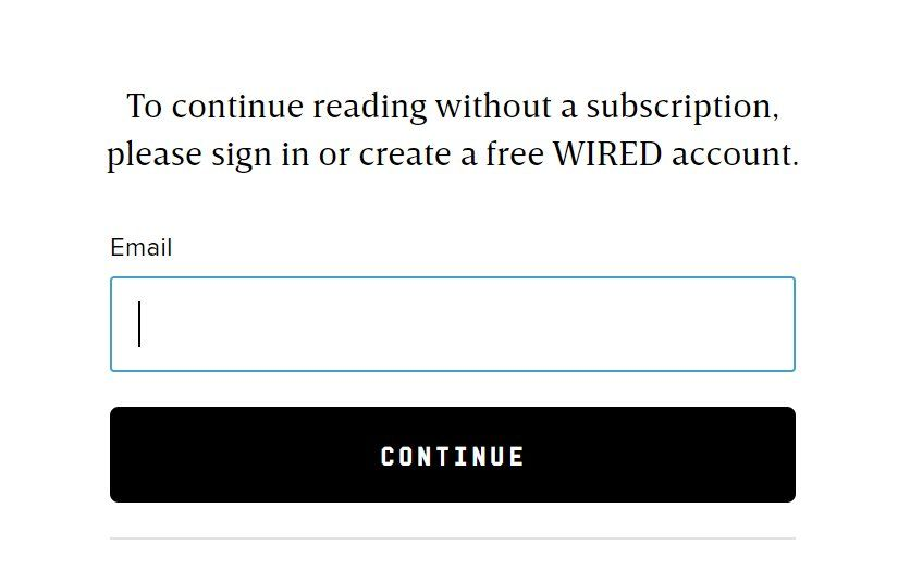 Wired Paywall